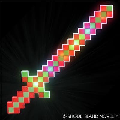 "24"" Light Up Christmas Pixel Sword"