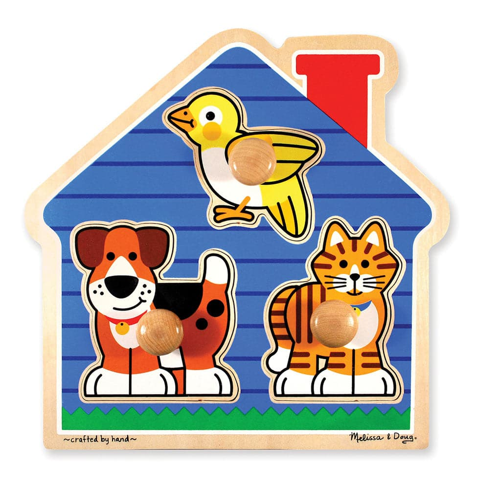 Jumbo Knob Puzzle House Pets 3 Pieces