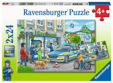 Police at Work! 2 x 24 Piece Puzzle