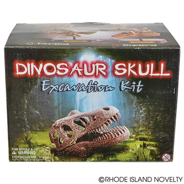 "The Toy Network 6.5"" Dinosaur Skull Excavation Dig Kit Stegosaurus - Legacy Toys"