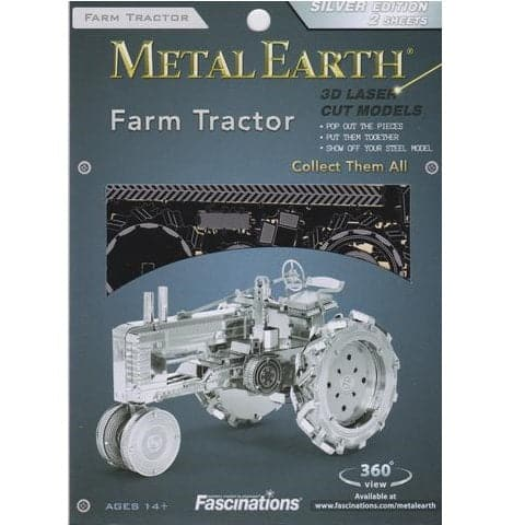 Fascinations Metal Earth - Vehicles - Farm Tractor - Legacy Toys