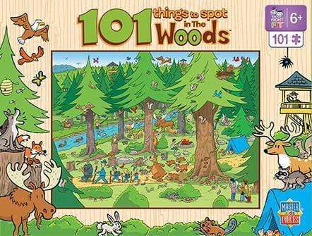 101 Things to Spot in the Woods Jigsaw Puzzle 101 Piece