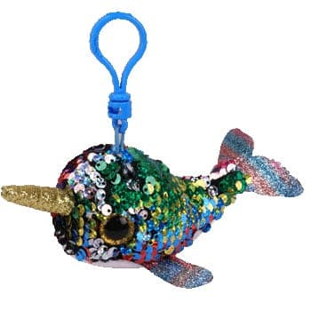 "TY Beanie Boos - Flippables - Calypso Multi-Color Narwhal - Clips 5"" - Legacy Toys"