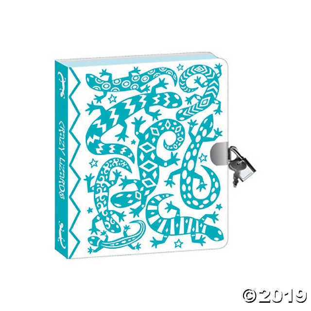 Peaceable Kingdom Lock & Key Diaries - Lizard Foil Coloring - Legacy Toys
