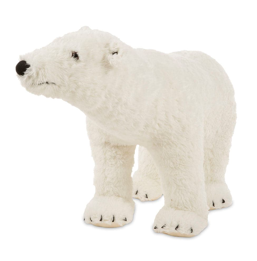 Melissa & Doug Polar Bear - Lifelike Animal Giant Plush - Legacy Toys