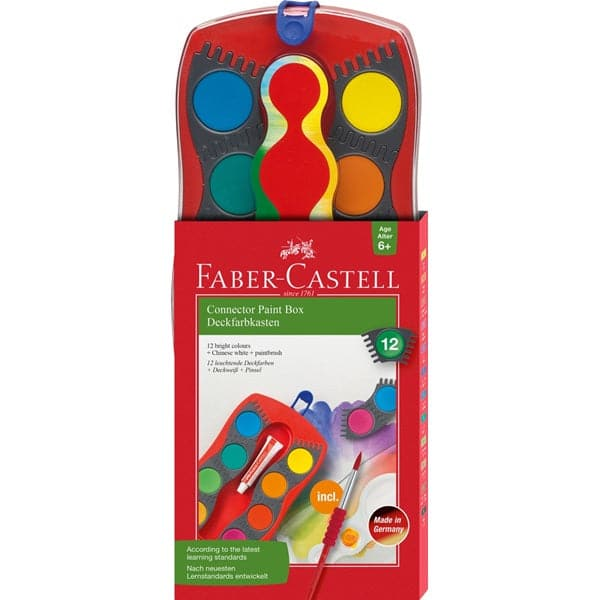 Faber Castell 12ct Connector Paint Box - Legacy Toys