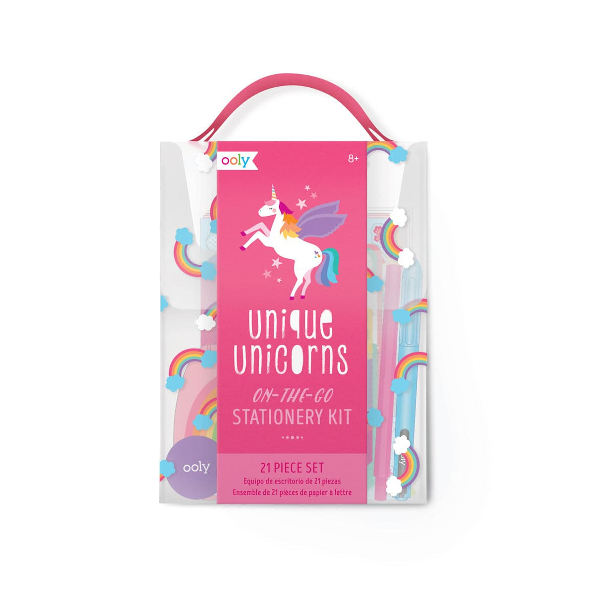 On-The-Go Stationery Kit - Unique Unicorns 21 Piece Set