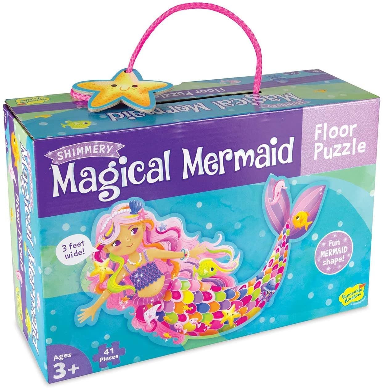 Magical Mermaid Floor Puzzle 41 Pieces