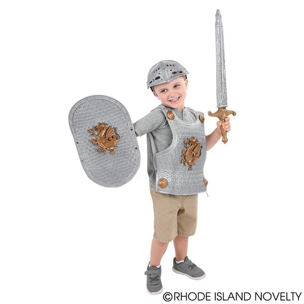 "15"" Medieval Battle Armor Knight Set with Sword"