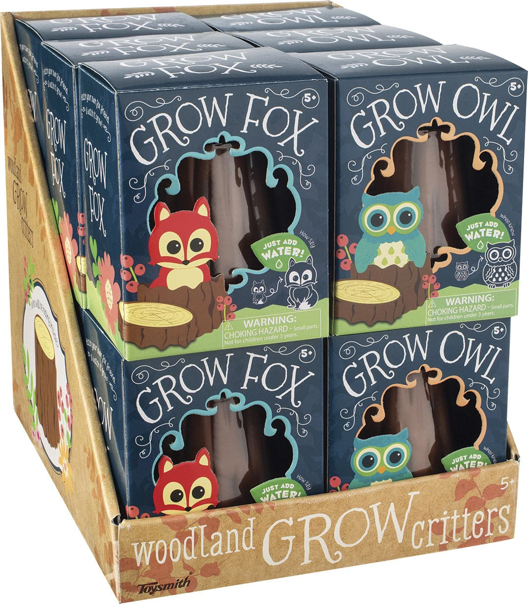 Toy Smith Grow Fox & Owl Assorted Styles - Legacy Toys