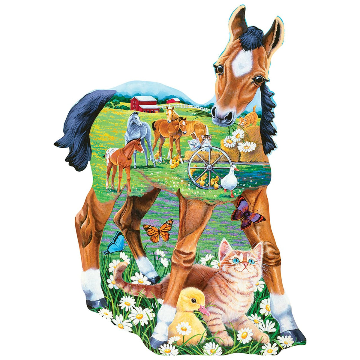 Pony Playtime Shaped Jigsaw Puzzle - 100 Piece Puzzle