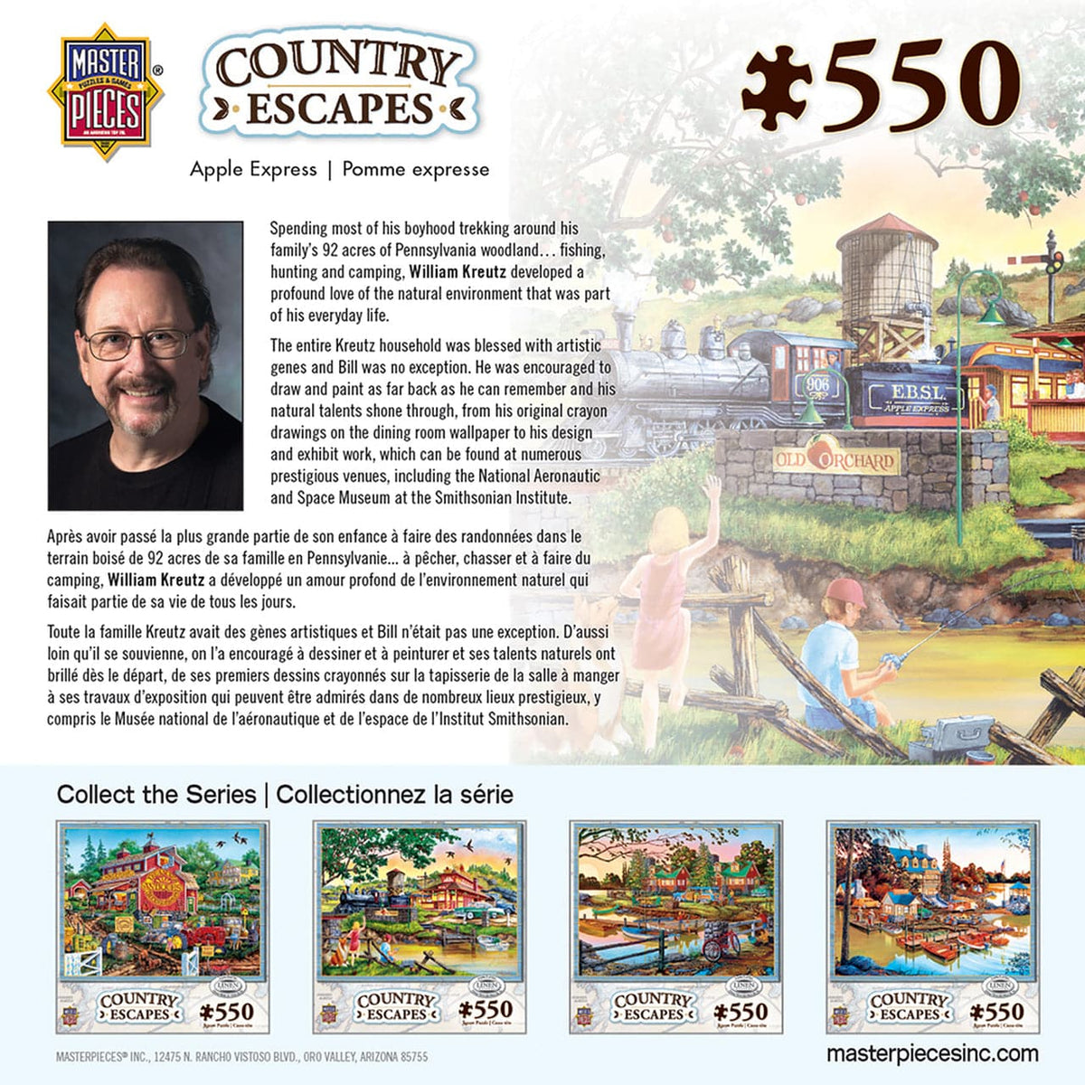 Masterpieces Country Escapes - Apple Express - 550 Piece Puzzle - Legacy Toys