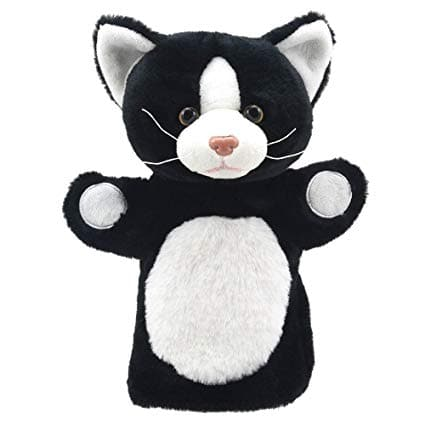 The Puppet Company Animal Puppet Buddies - Cat Black & White - Legacy Toys