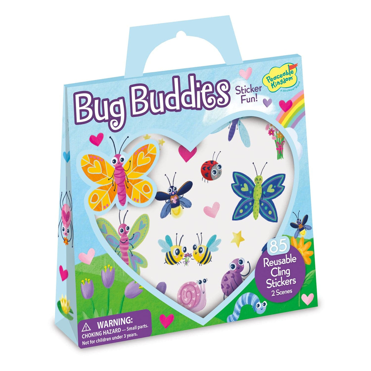 Peaceable Kingdom Reusable Sticker Totes - Bug Buddies - Legacy Toys