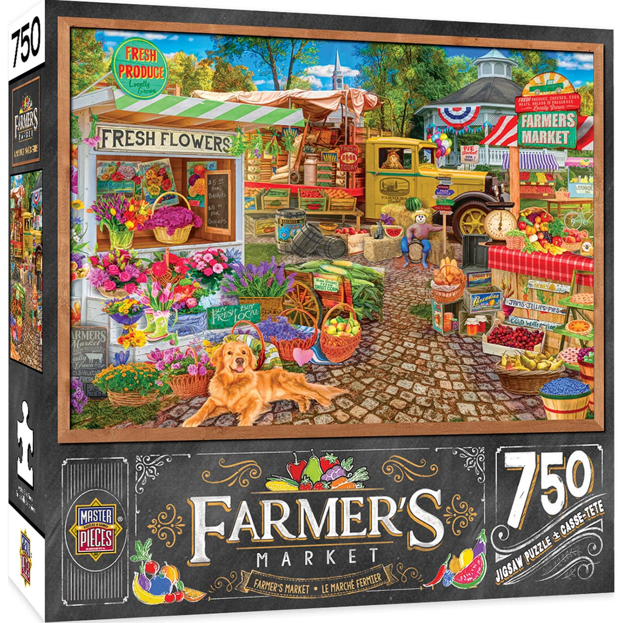 Farmer's Market - Sale on the Square - 750 Piece Puzzle