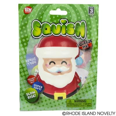"4"" Squishy Holiday - Santa"