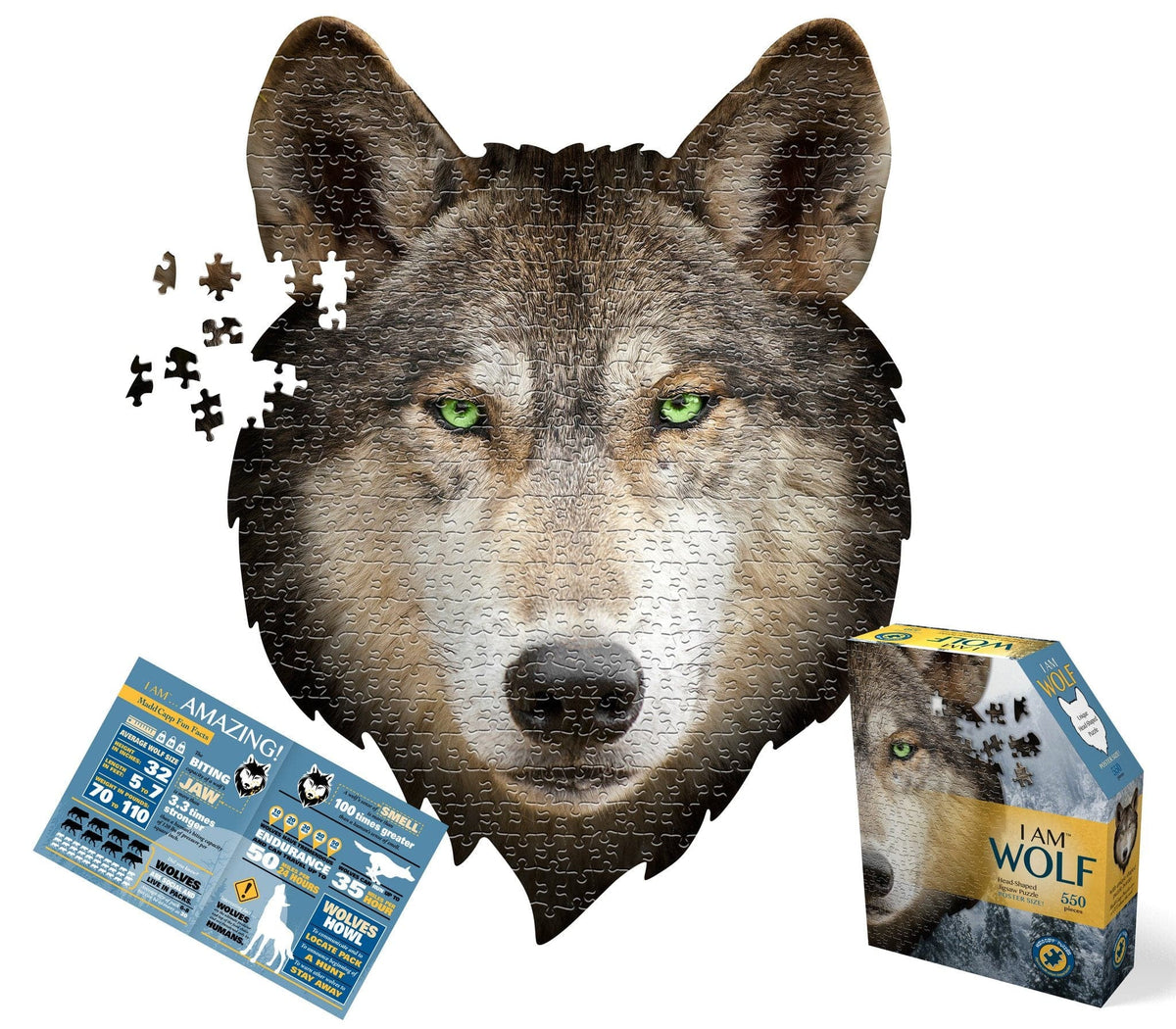 I am Wolf - 550 Piece Puzzle