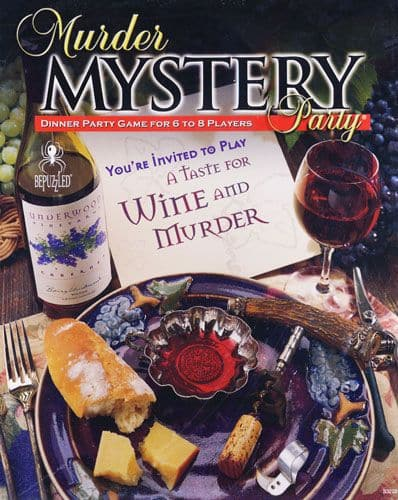 A Taste for Wine and Murder Murder Mystery Party Game