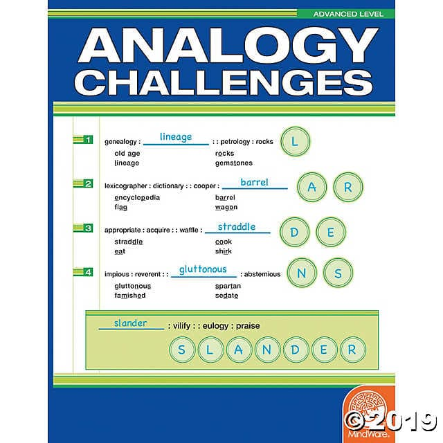 MindWare Analogy Challenges - Advanced Level - Legacy Toys