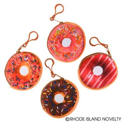 "3.25"" Donut Coin Purse Keychain"