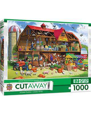Masterpieces Cutaways - Family Barn - 1,000 Piece Puzzle - Legacy Toys