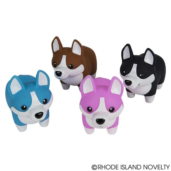"5.5"" Rubber Corgi with Sound Assorted Styles"