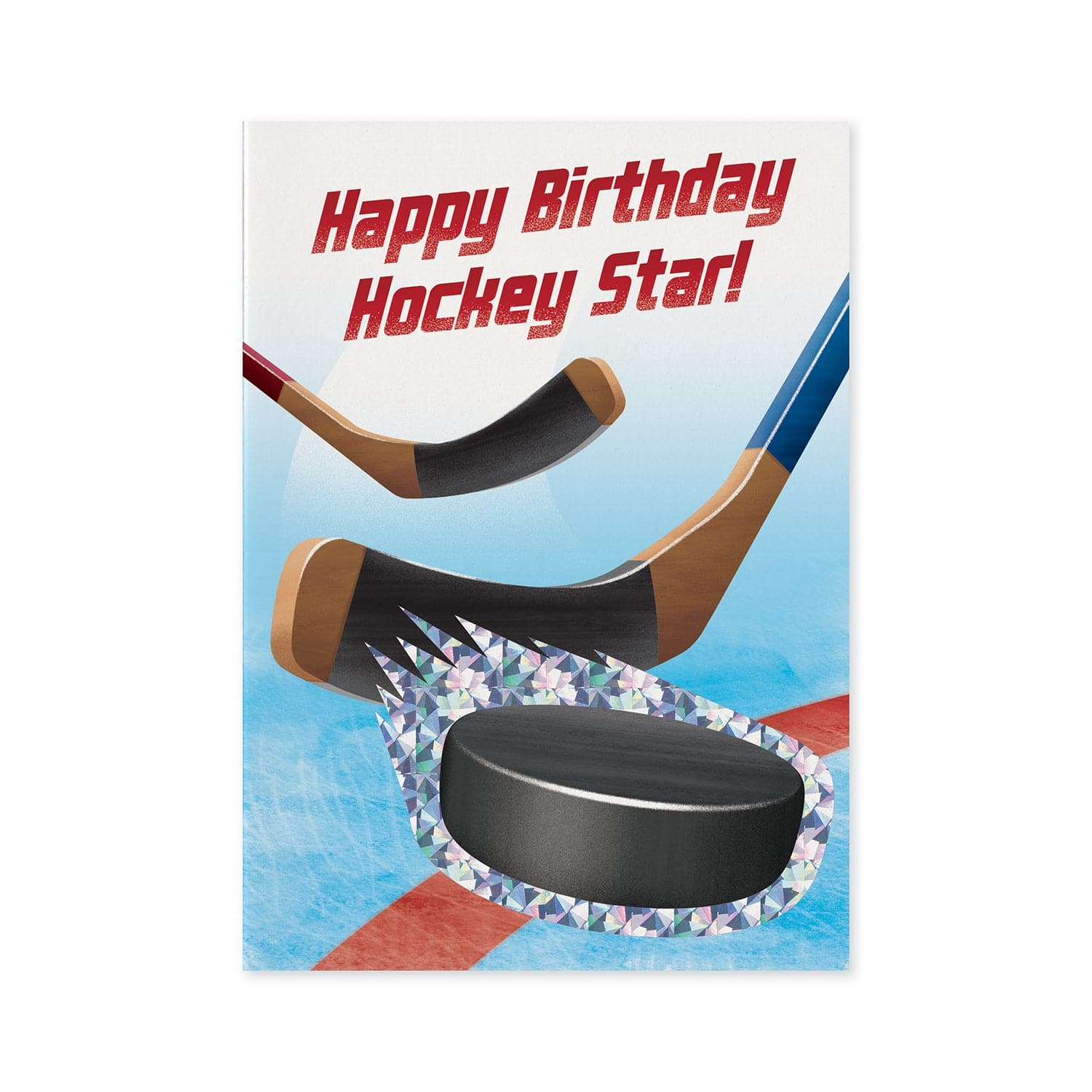 Foil Birthday Cards Hockey