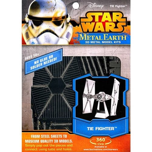 Fascinations Metal Earth - Star Wars - Darth Vader TIE Fighter - Legacy Toys