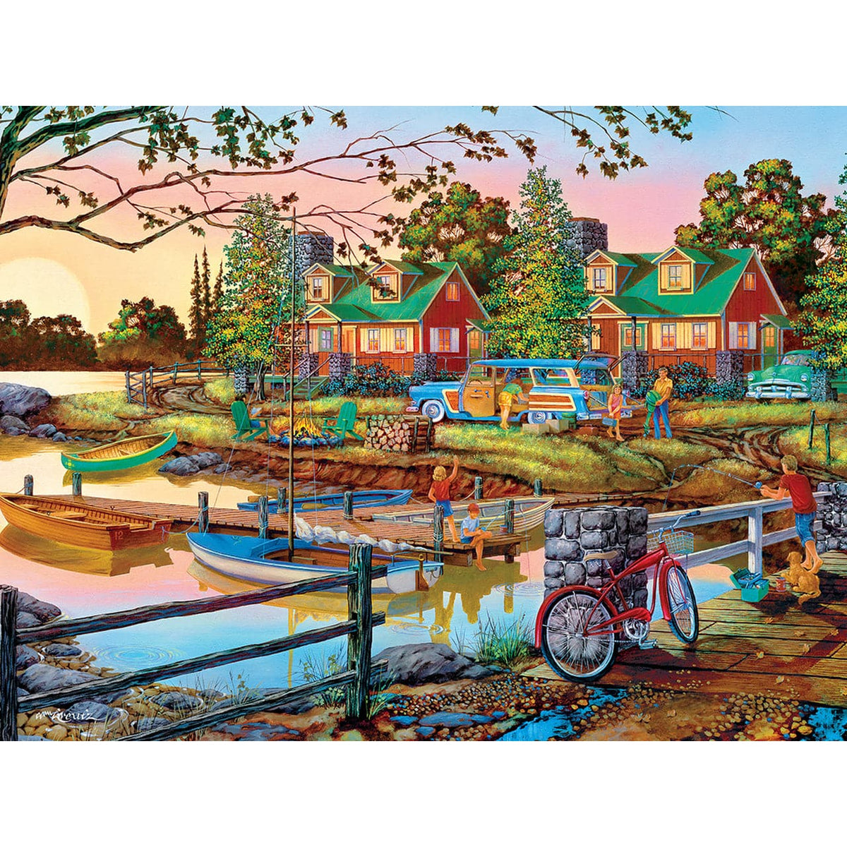 Country Escapes - Away From It All - 550 Piece Puzzle - Legacy Toys