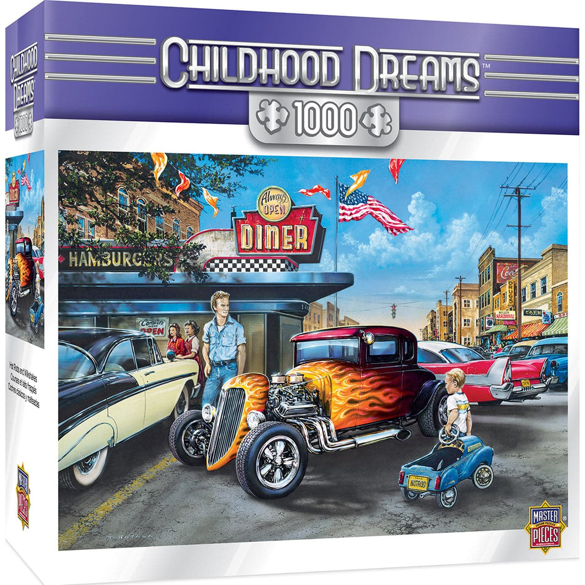 Childhood Dreams - Hot Rods and Milkshakes - 1,000 Piece Puzzle - Legacy Toys