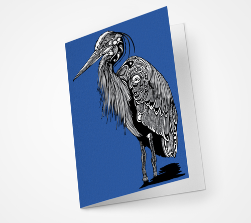 Great Blue Heron Blank Notecard