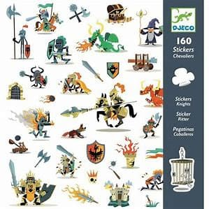 Djeco Petit Gifts - Knights Stickers - Legacy Toys