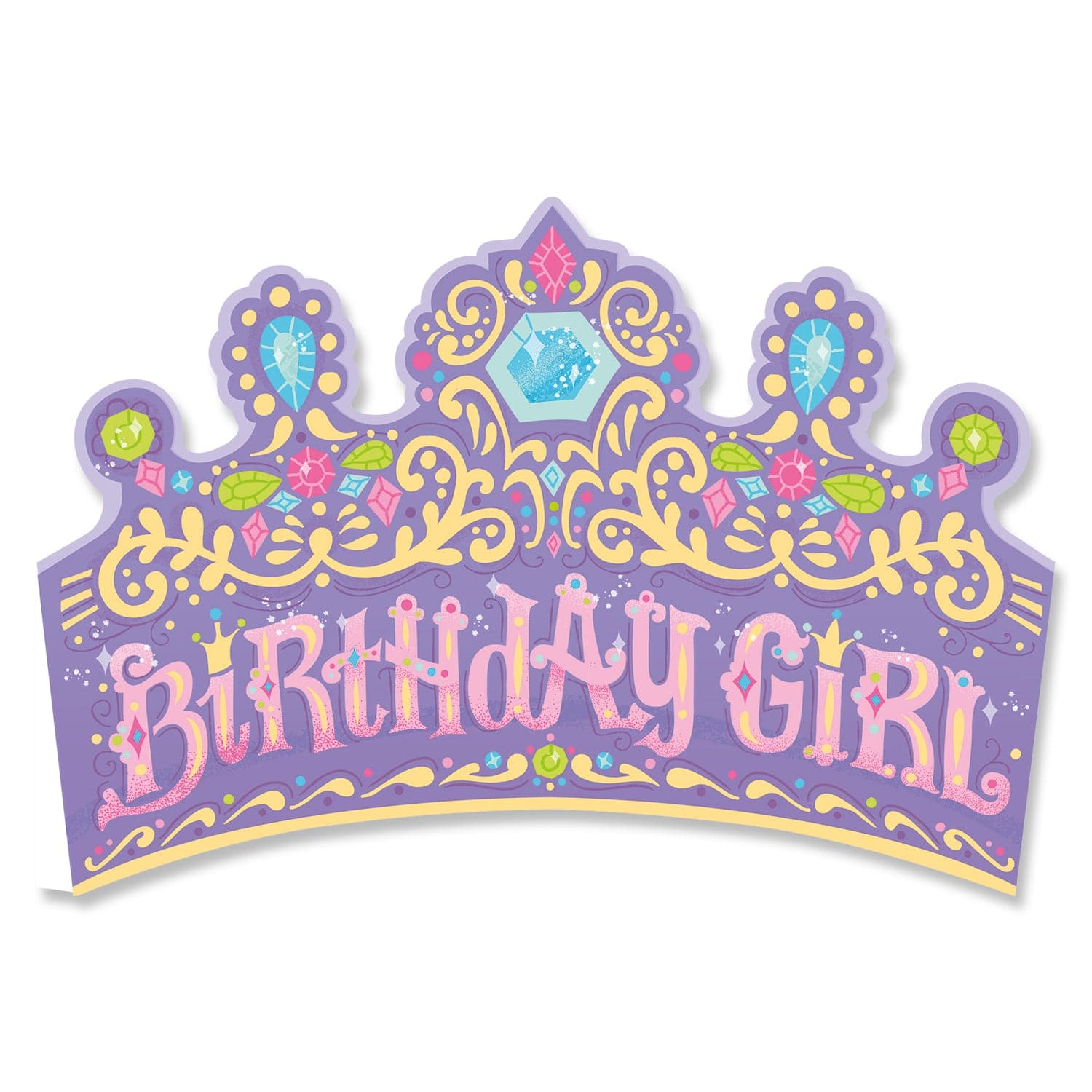 Glitter Birthday Cards Crown