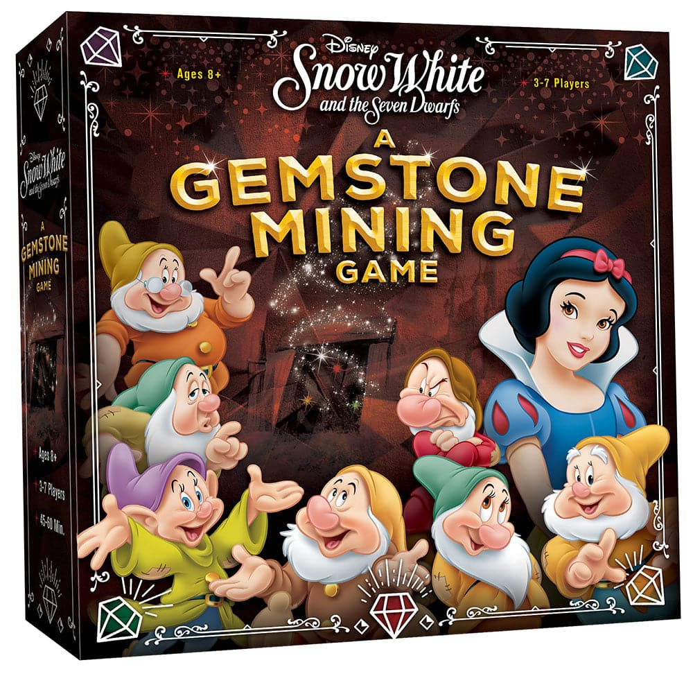 USAopoly Disney's Snow White and the Seven Dwarfs: A Gemstone Mining Game - Legacy Toys