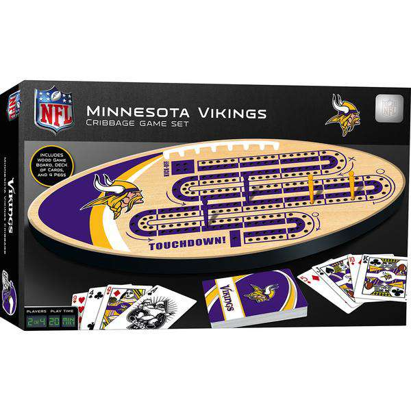 Masterpieces Minnesota Vikings Cribbage Game Board - Legacy Toys