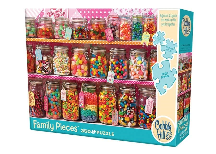 Cobble Hill Puzzles Candy Counter Family - 350 Piece Puzzle - Legacy Toys