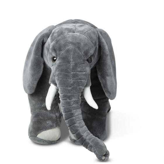 Melissa & Doug Elephant - Lifelike Animal Giant Plush - Legacy Toys