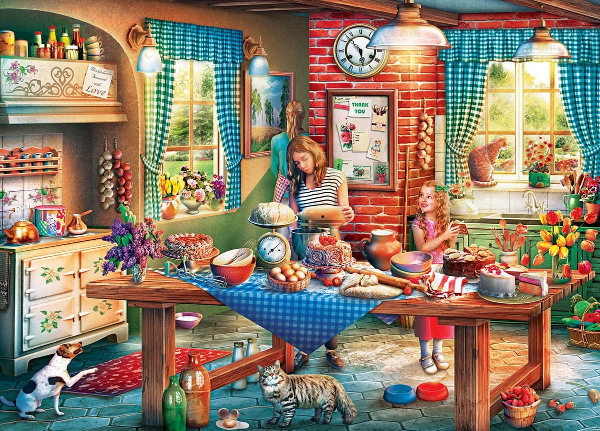 Childhood Dreams - Baking Bread - 1,000 Piece Puzzle - Legacy Toys
