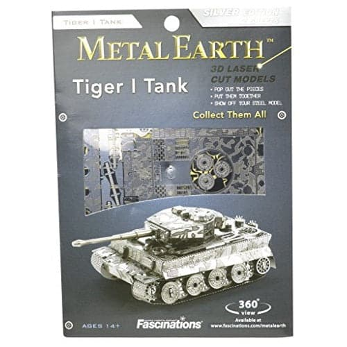 Fascinations Metal Earth - Tanks - Tiger I Tank - Legacy Toys