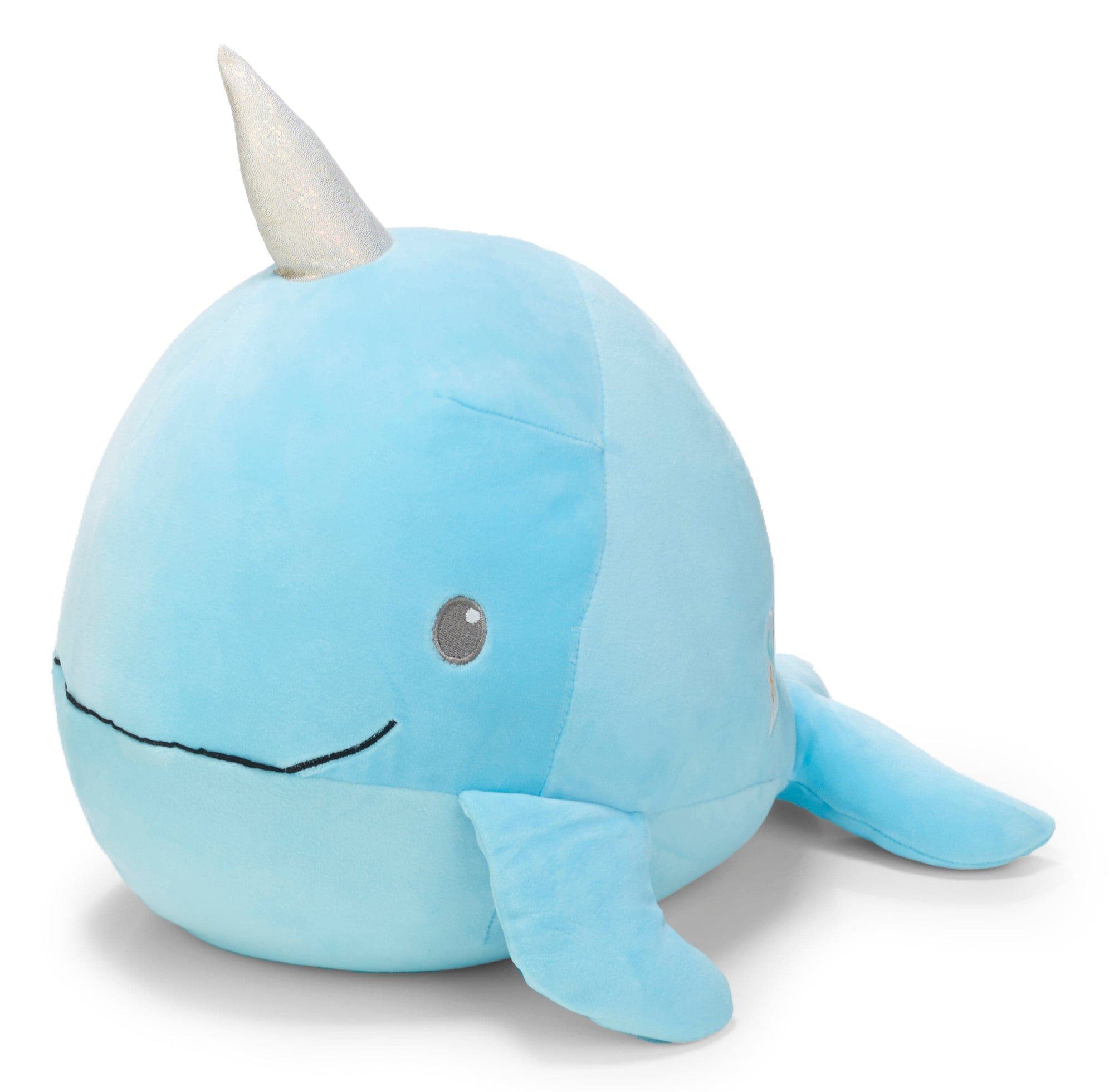 Cuddle Pal - Round Large Narwhal