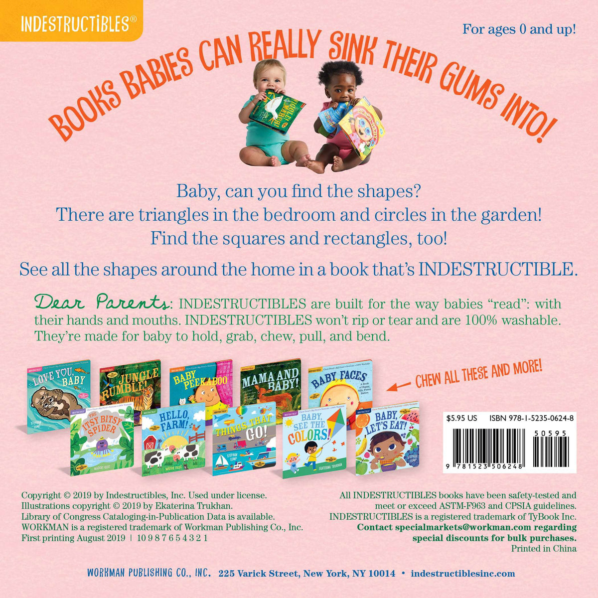 Workman Publishing Indestuctibles: Baby, Find The Shapes! - Legacy Toys