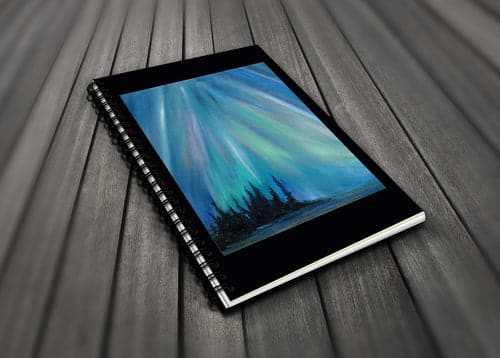 Go Wild! Blank Journals - Northern lights