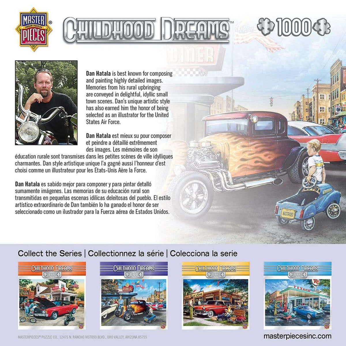 Masterpieces Childhood Dreams - Hot Rods and Milkshakes - 1,000 Piece Puzzle - Legacy Toys