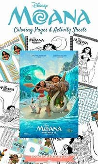 Montrose Colors Moana Activity Book Coloring Book - Legacy Toys