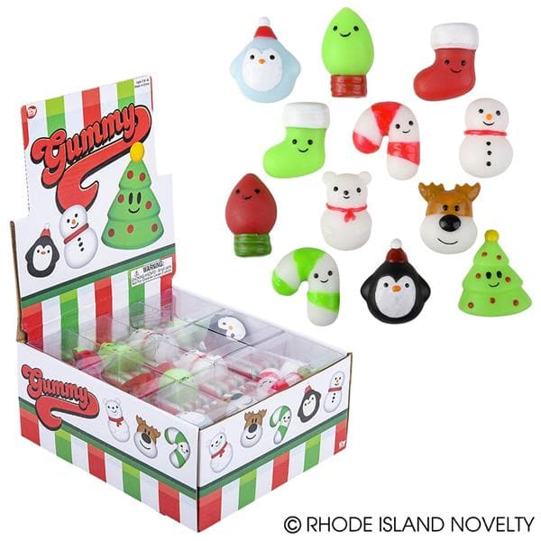 "The Toy Network 1.5"" Mochi Gummy Christmas Characters - Assorted Styles - Legacy Toys"