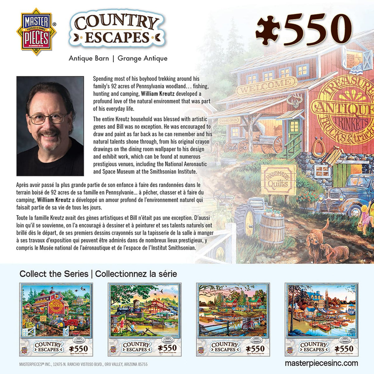 Country Escapes - Antique Barn - 550 Piece Puzzle - Legacy Toys