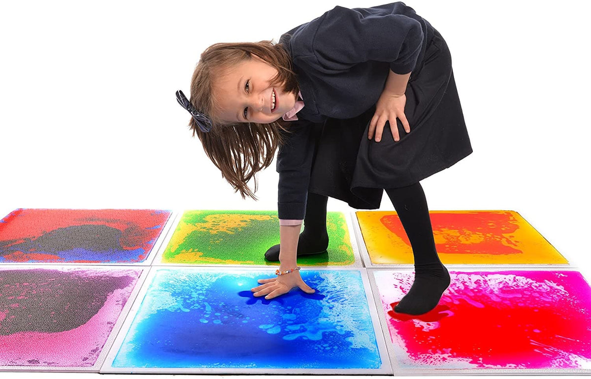 "19.7"" Liquid Color Floor Tile with Anti‐Slip Mat - Box of 6 - Legacy Toys"