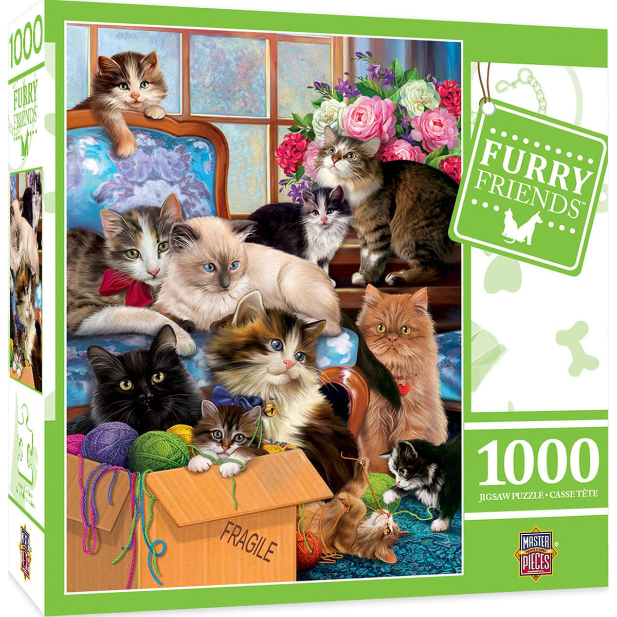 Furry Friends - Trouble Makers - 1,000 Piece Puzzle
