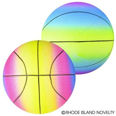"9"" Rainbow Basketball Playground Ball Assorted Styles"