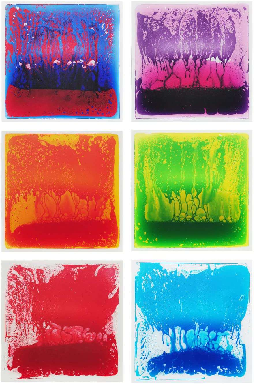 "Legacy Toys 19.7"" Liquid Color Floor Tile with Anti‐Slip Mat - Box of 6 - Legacy Toys"